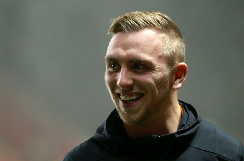 LONDON, ENGLAND - DECEMBER 13: Jarrod Bowen of Hull City takes a look around the pitch prior to the Sky Bet Championship match between Charlton Athletic and Hull City at The Valley on December 13, 2019 in London, England. (Photo by James Chance/Getty Images)