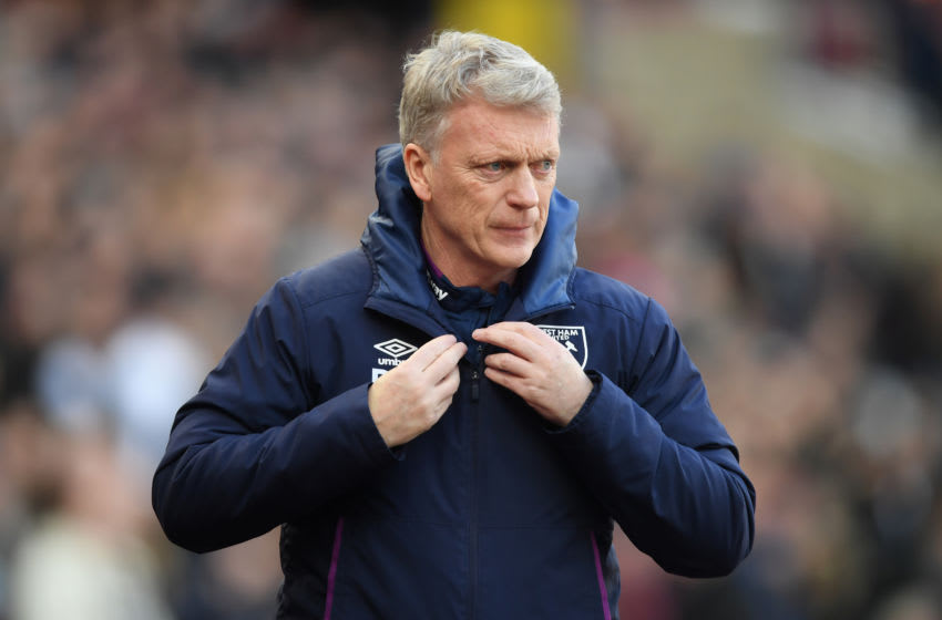 LONDON, ENGLAND - FEBRUARY 01: West Ham manager David Moyes looks on during the Premier League match between West Ham United and Brighton & Hove Albion at London Stadium on February 01, 2020 in London, United Kingdom. (Photo by Mike Hewitt/Getty Images)
