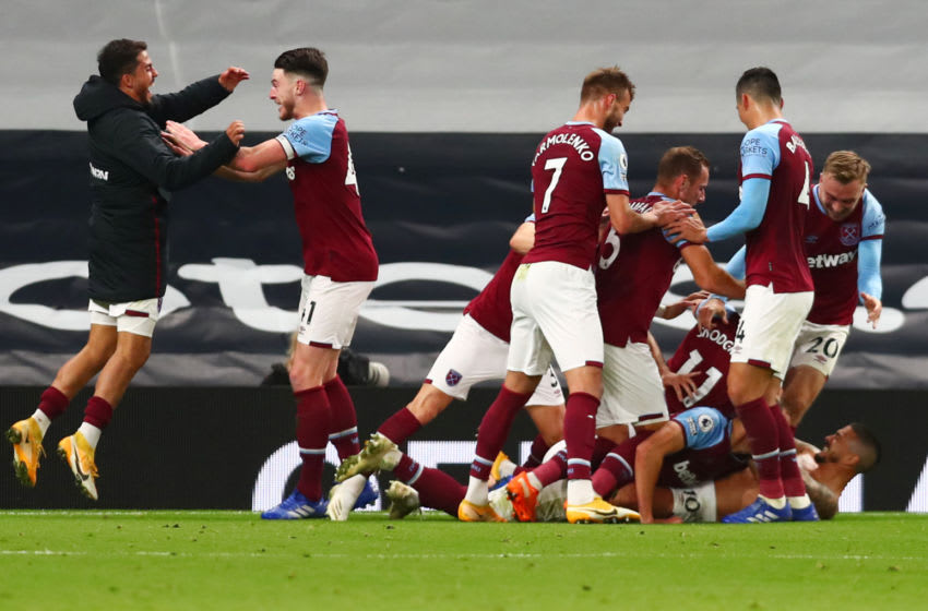 West Ham United have announced their 25-man-squad for the rest of the Premier League season. (Photo by CLIVE ROSE/POOL/AFP via Getty Images)