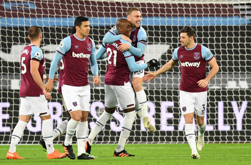 West Ham. (Photo by NEIL HALL/POOL/AFP via Getty Images)