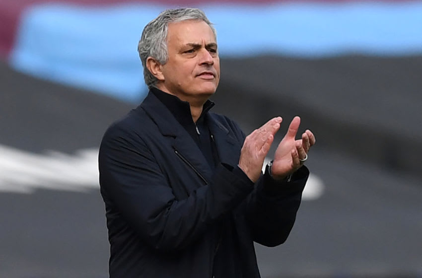 Jose Mourinho defeated by West Ham. (Photo by NEIL HALL/POOL/AFP via Getty Images)