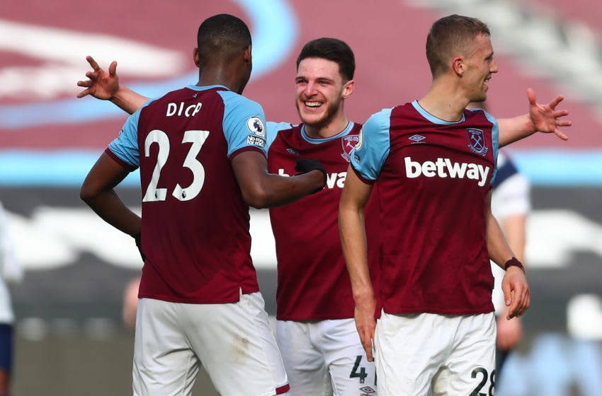 Declan Rice, West Ham. (Photo by CLIVE ROSE/POOL/AFP via Getty Images)