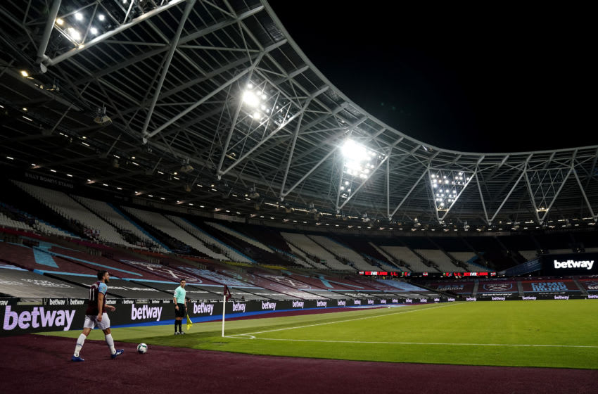 West Ham behind closed doors. (Photo by Will Oliver - Pool/Getty Images)