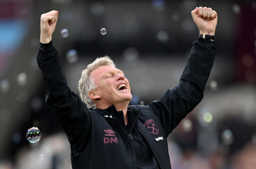 David Moyes, Manager of West Ham United celebrates. (Photo by Justin Setterfield/Getty Images)