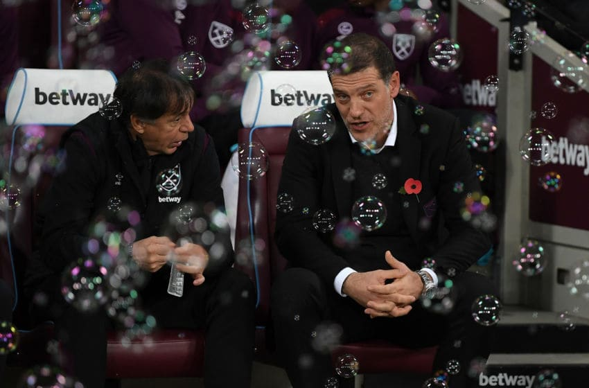 LONDON, ENGLAND - NOVEMBER 04: Slaven Bilic, Manager of West Ham United looks on prior to the Premier League match between West Ham United and Liverpool at London Stadium on November 4, 2017 in London, England. (Photo by Shaun Botterill/Getty Images)