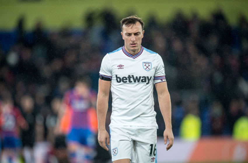 LONDON, ENGLAND - DECEMBER 26: Mark Noble of West Ham United during the Premier League match between Crystal Palace and West Ham United at Selhurst Park on December 26, 2019 in London, United Kingdom. (Photo by Sebastian Frej/MB Media/Getty Images)