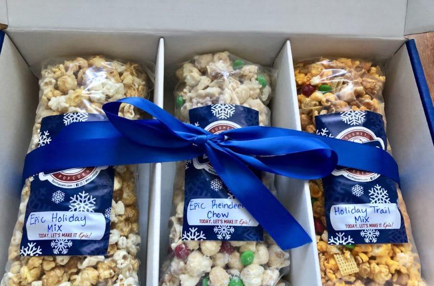 Photo: Epic Gourmet Popcorn, Holiday Box.. Image by Sandy Casanova