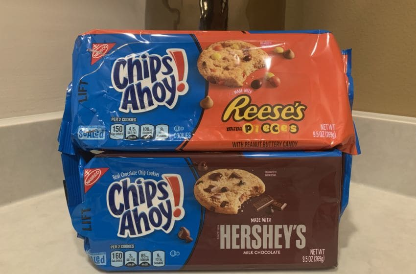 Photo: Chips Ahoy Reese's Mini Pieces and Hershey's Cookies.. Image by Kimberley Spinney