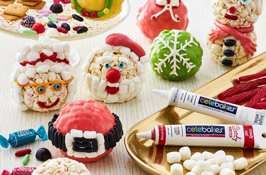 The Popcorn Factory® Holiday Popcorn Ball Decorating Kit. Image courtesy 1800Flowers