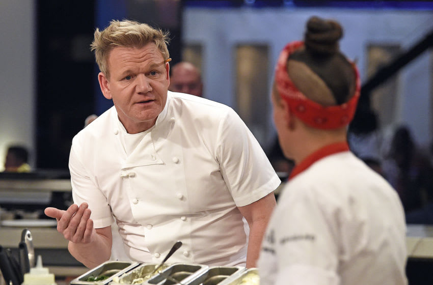 HELL'S KITCHEN: L-R: Chef/host Gordon Ramsay and contestant Jordan in the