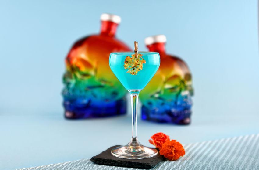 Crystal Head Vodka Pride cocktail -Blued Up Pride Cocktail. Image courtesy Crystal Head Vodka