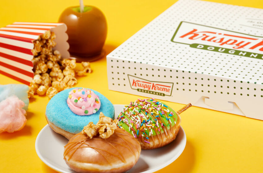 Krispy Kreme Carnival Doughnuts. Image courtesy Krispy Kreme