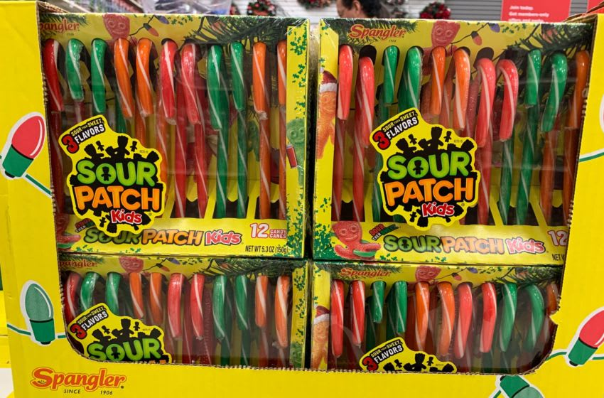 Photo: Sour Patch Kids Flavored Candy Canes.. Photo by Kimberley Spinney