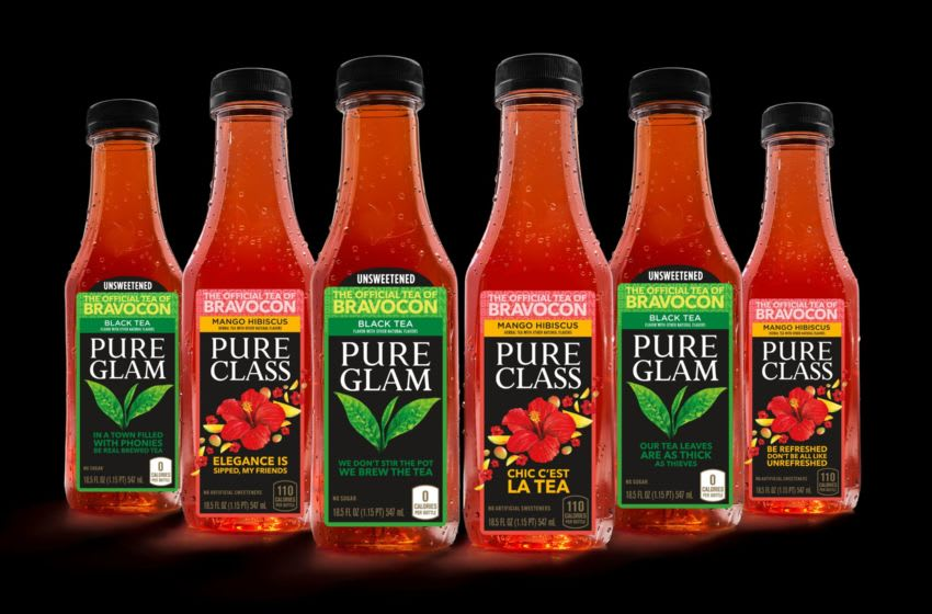 Photo: Pure Leaf's Collectible BravoCon Pure Glam and Pure Class bottles.. Image Courtesy Pure Leaf
