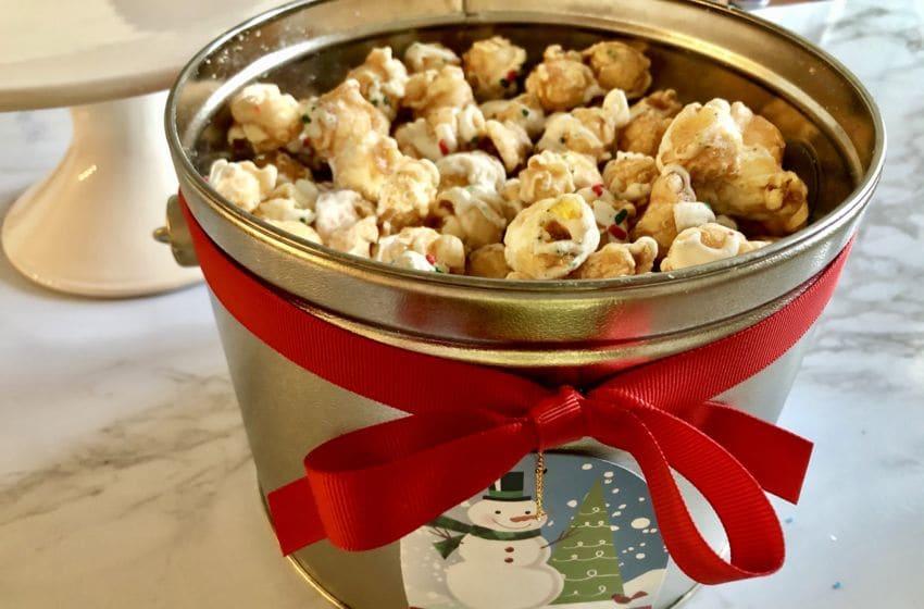 Photo: Magical Holiday Popcorn Pail from The Popcorn Factory.. Photo by Sandy Casanova