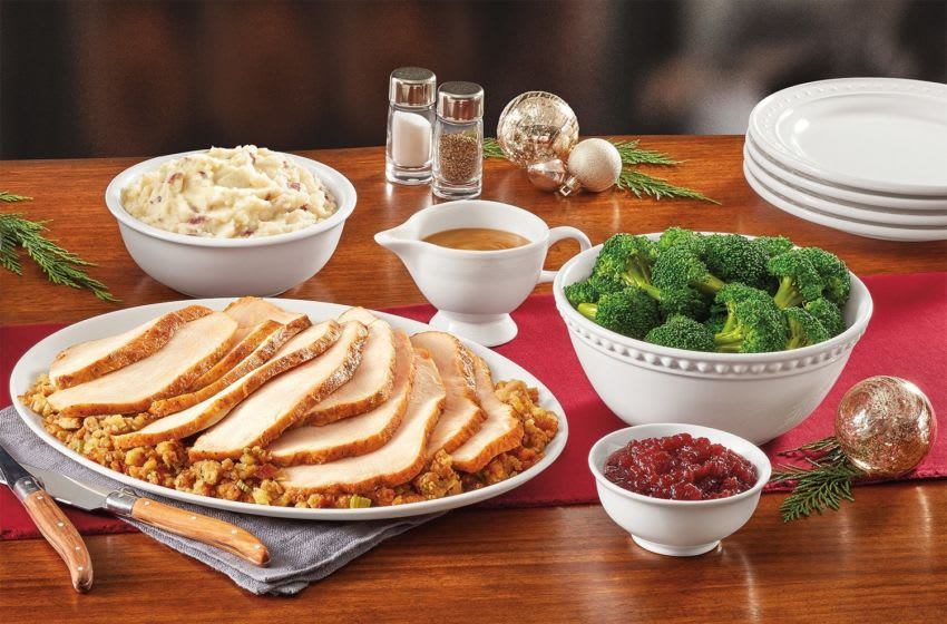 Denny's Turkey dinner for Thanksgiving, photo provided by Denny's