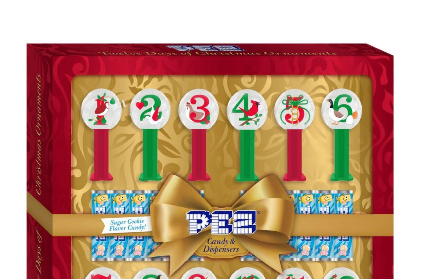 Photo: PEZ 12 Days of Christmas Ornament Calendar is available for a limited time at Walmart.. Image Courtesy Walmart