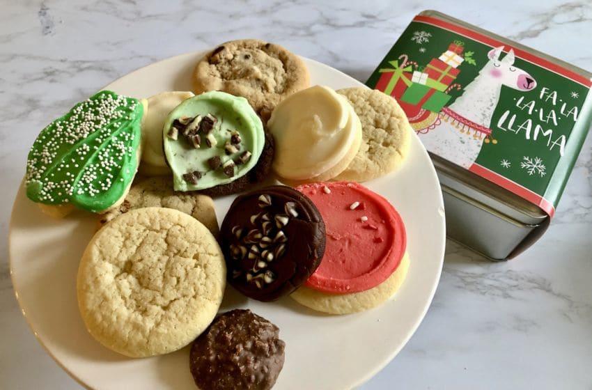 Llama Cookie Tin from Cherly's Cookies, photo by Sandy Casanova