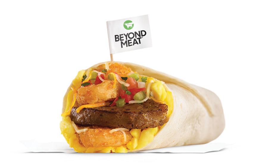 Photo: Carl's Jr. Beyond Sausage Burrito.. Image Courtesy Carl's Jr.