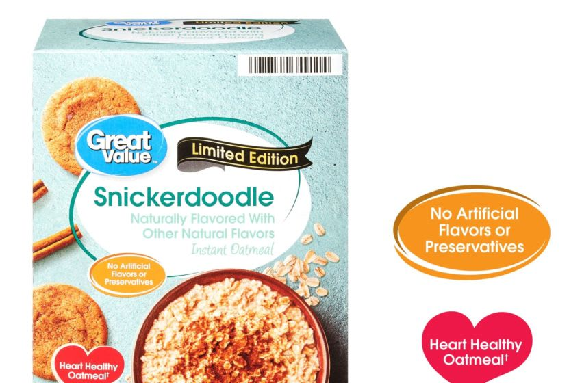 Photo: Great Value Limited Edition Snickerdoodle Oatmeal.. Image Courtesy Walmart