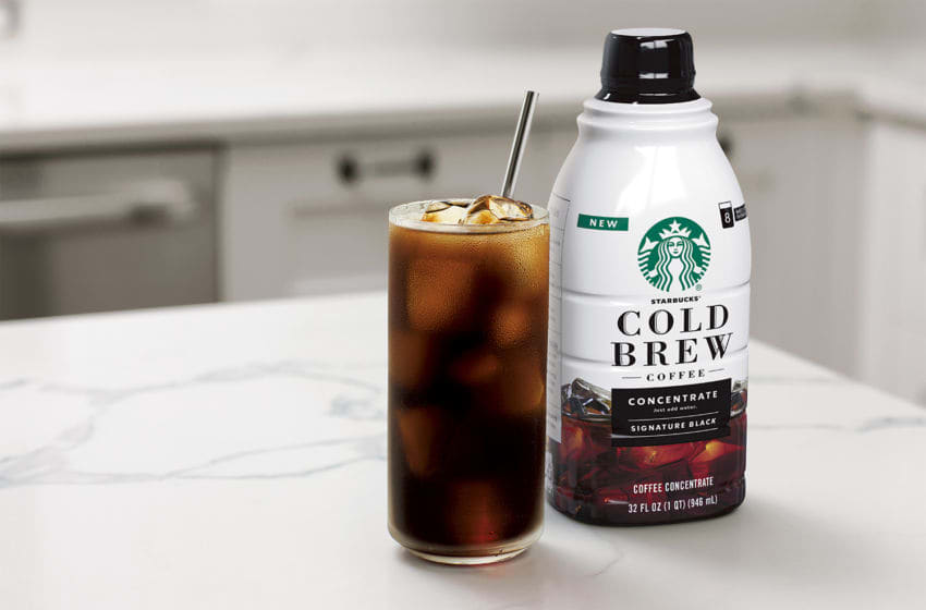 Starbucks Cold Brew Concentrate, photo provided by Starbucks,