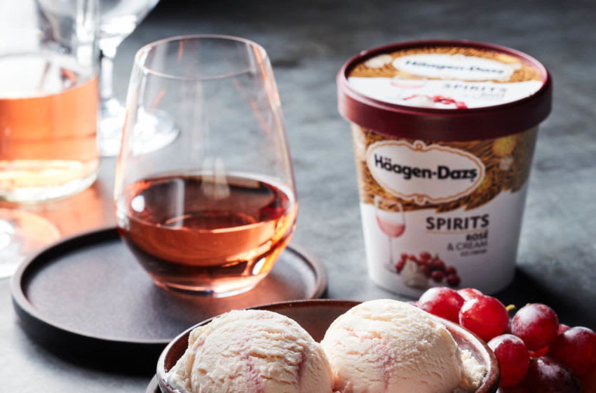New Haagen-Dazs Rose and Cream, photo provided by Haagen-Dazs