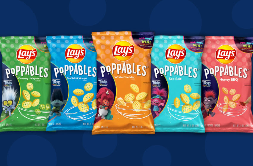 Lay's Poppables get a Troll's World Tour makeover, photo provided by Lay's