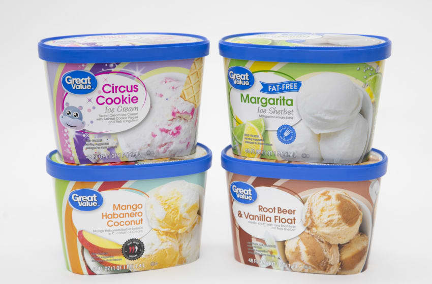 New Great Value ice cream flavors, photo provided by Walmart