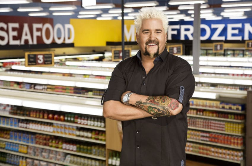 Host Guy Fieri and the Grocery Store, as seen on Food Network's Guy's Grocery Games, Season 2.
