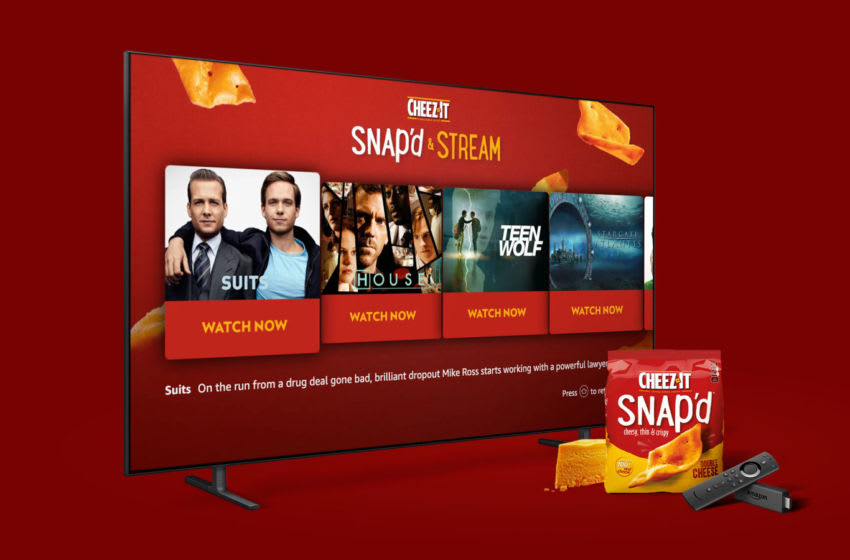 Cheez-It Snap'd, Stream Fire TV, photo courtesy Cheez-It