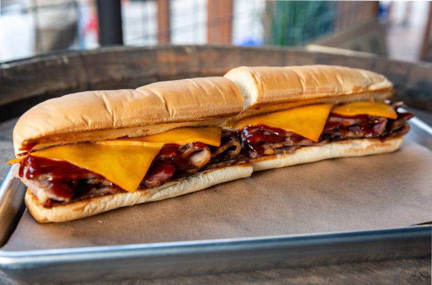Subway's new Pit-Smoked Brisket sandwich, photo provided by Subway