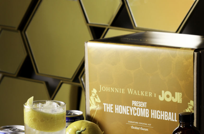 Johnnie Walker x JOJI Honeycomb Highball Kit. Image courtesy Johnnie Walker