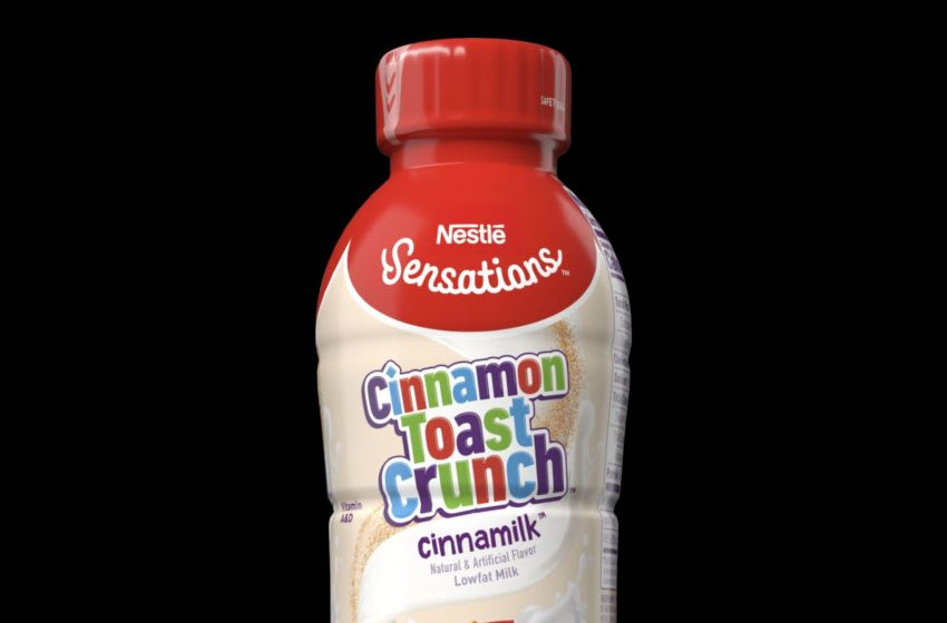 NEW Nestlé® Sensations Cinnamon Toast Crunch® Flavored Milk / Image courtesy of Nestle.