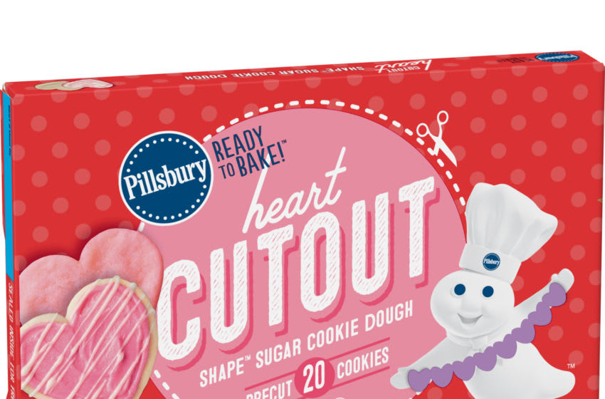 Pillsbury Ready to Bake Heart Shape Cutout Sugar Cookie Dough. Image courtesy of Pillsbury and General Mills