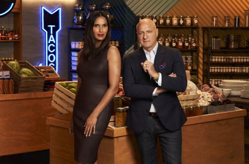 TOP CHEF -- Season:17 -- Pictured: (l-r) Padma Lakshmi, Tom Colicchio -- (Photo by: Smallz & Raskind/Bravo)