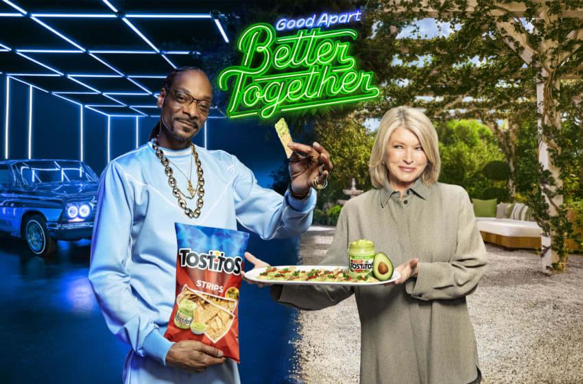 Martha Stewart & Snoop Dogg announce Tostitos Strips & Avocado Salsa, photo provided by Tostitos