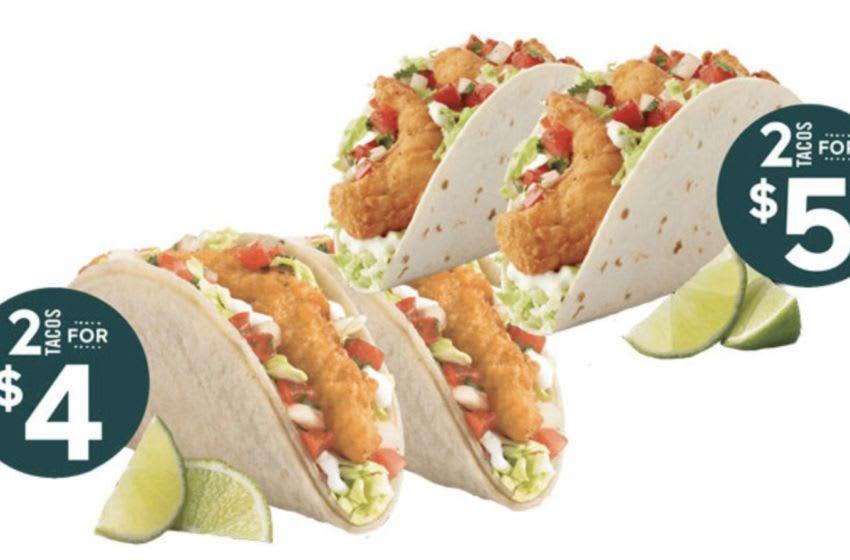 Del Taco Jumbo Shrimp Tacos, photo courtesy Del Taco