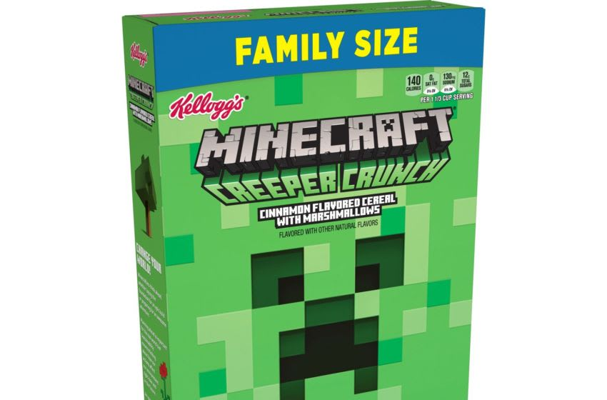 Kellogg's Minecraft Creeper Crunch Cereal, photo courtesy Kellogg's