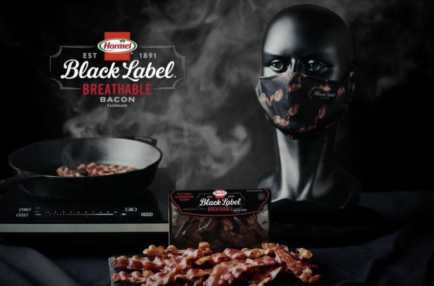 Hormel Black Label Breathable Bacon Facemask. Image courtesy Hormel