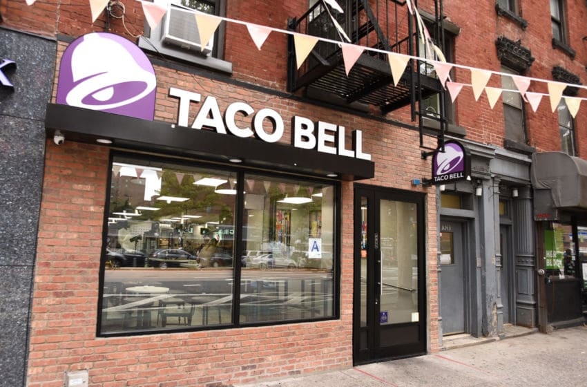 NEW YORK, NY - SEPTEMBER 18: A view of Taco Bell located at 321 1st Ave. in Manhattan. (Photo by Dave Kotinsky/Getty Images for Taco Bell)