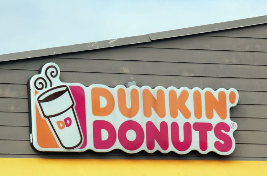 LEVITTOWN, NEW YORK - MARCH 16: An image of the sign for Dunkin' Donuts as photographed on March 16, 2020 in Levittown, New York. (Photo by Bruce Bennett/Getty Images)