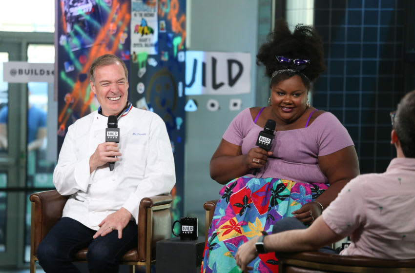NEW YORK, NY - JULY 09: Jacques Torres and Nicole Byers discuss