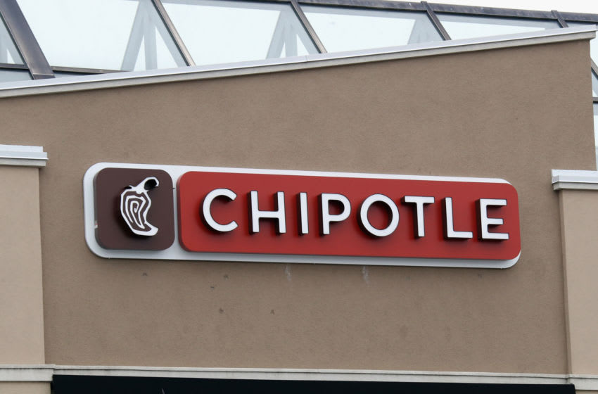 CARLE PLACE, NEW YORK - MARCH 20: A general view of the Chipotle sign as photographed on March 20, 2020 in Carle Place, New York. (Photo by Bruce Bennett/Getty Images)