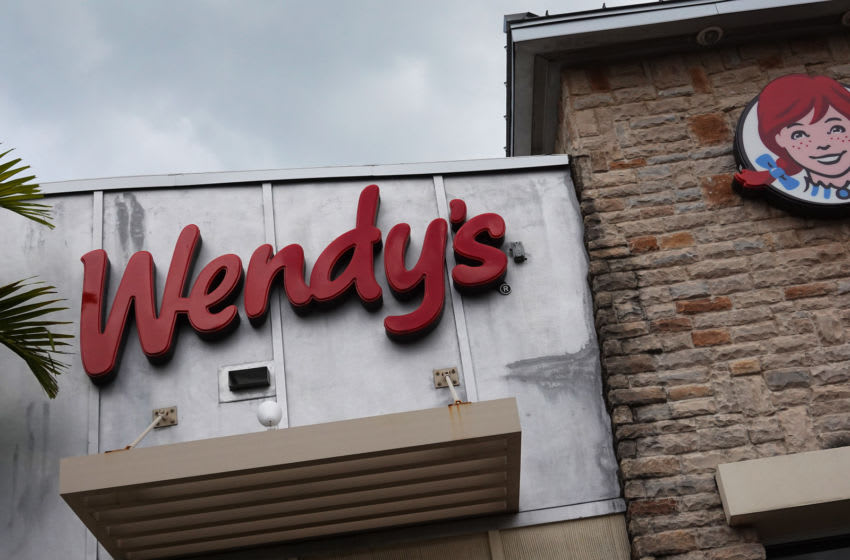 MIAMI, FLORIDA - MAY 06: A Wendy's restaurant sign is seen on May 06, 2020 in Miami, Florida. Reports indicate that hundreds of Wendy's restaurants have run out of meat due to supply chain disruptions during the coronavirus pandemic. (Photo by Joe Raedle/Getty Images)