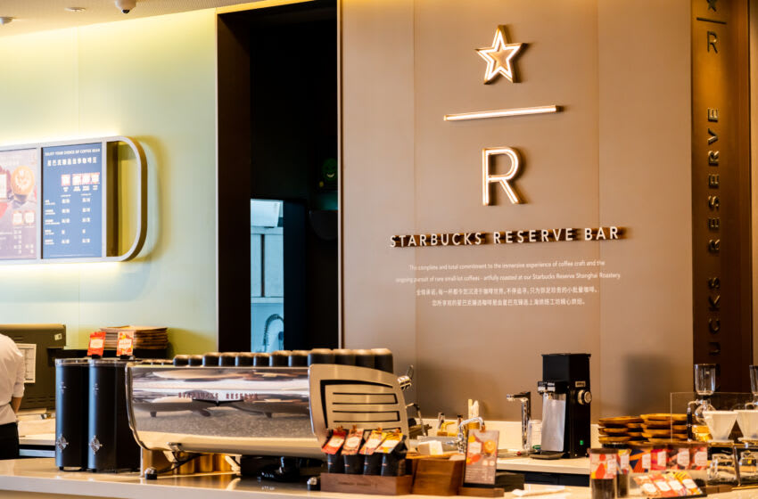 SHENZHEN, GUANGDONG, CHINA - 2020/10/05: Starbucks Reserve coffeehouse seen in Shenzhen. (Photo by Alex Tai/SOPA Images/LightRocket via Getty Images)