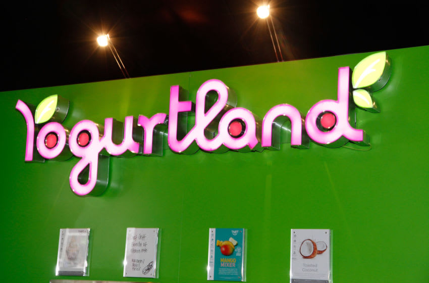 PARK CITY, UT - JANUARY 21: A view of the Yogurtland display during Night 2 of Chefdance on January 21, 2012 in Park City, Utah. (Photo by Anna Webber/Getty Images for Chefdance)