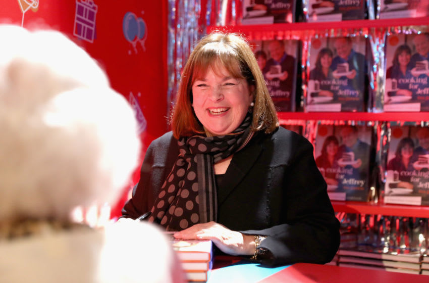 NEW YORK, NY - OCTOBER 13: Ina Garten signs cookbooks during Food Network's 25th Birthday Party Celebration at the 11th annual New York City Wine & Food Festival at Pier 92 on October 13, 2018 in New York City. (Photo by Amy Sussman/Getty Images for Food Network)