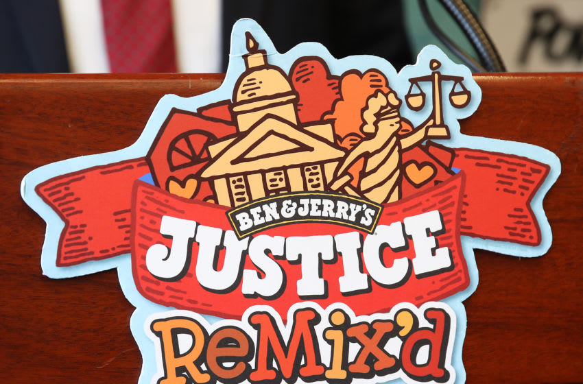 WASHINGTON, DC - SEPTEMBER 03: Ben & Jerry's announced a new flavor, Justice Remix'd, at a press conference September 03, 2019 in Washington, DC. Ben & Jerry's launched the new flavor in conjunction with the civil rights organization, Advancement Project, to