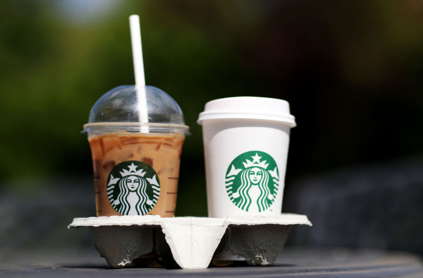 SOUTHAMPTON, ENGLAND - MAY 15: A photo illustration of beverages from Starbucks in Hedge End, Southampton after the store reopens for take away on May 15, 2020 in Southampton, England . The prime minister announced the general contours of a phased exit from the current lockdown, adopted nearly two months ago in an effort curb the spread of Covid-19. (Photo by Naomi Baker/Getty Images)