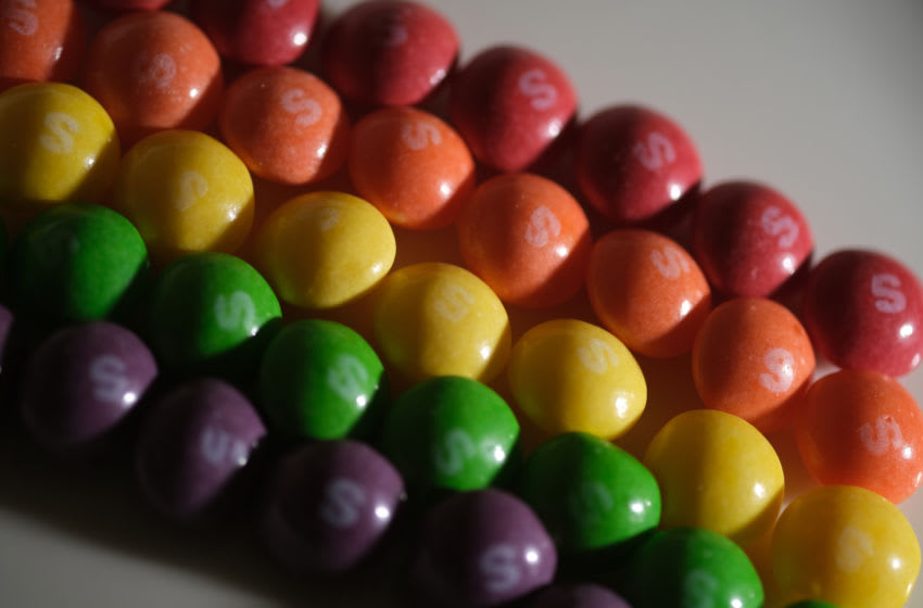 Skittles, a fruit-flavored candy. (Photo by Yuriko Nakao/Getty Images)